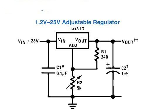 Sơ đồ nguyên lý mạch chuyển nguồn dùng LM317