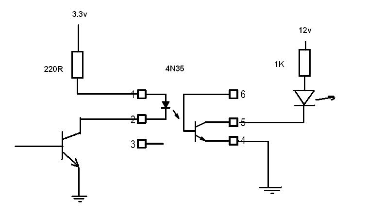 Sơ đồ kết nối 4N35