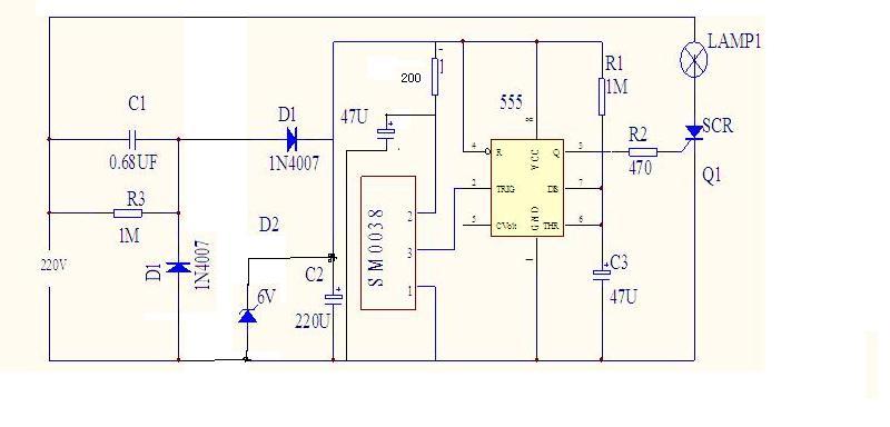 Sơ đồ mạch cảm biến hồng ngoại SM0038