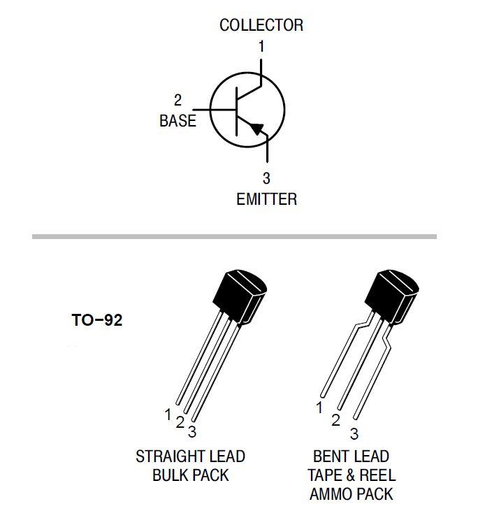 Sơ đồ chân Transistor BC558